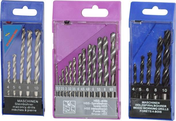 Digital Craft 13pcs HSS Drill Bits Set 1.5-6.5mm Spiral Drill Bits