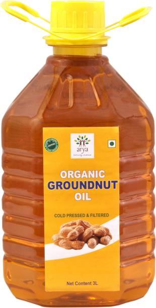 ARYA Ground Nut Oil 3 LTR for Cooking Groundnut Oil Plastic Bottle