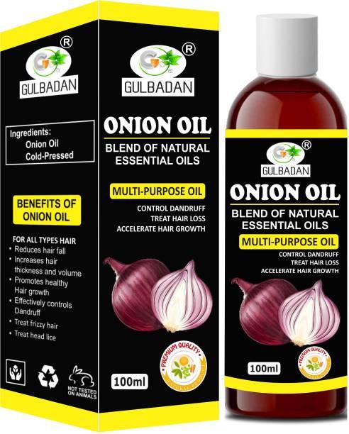GULBADAN 100% Pure & Natural ONION Herbal  Hair Oil