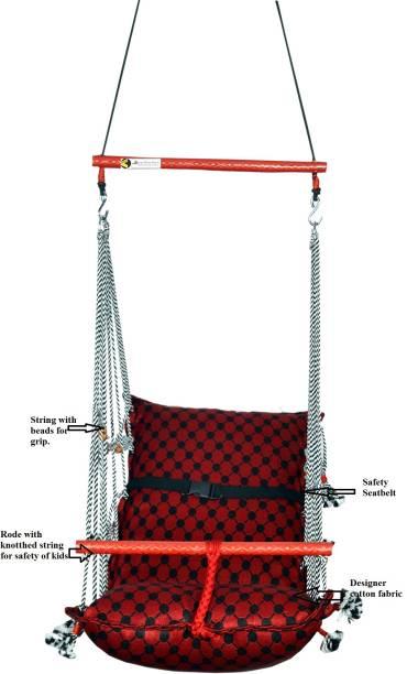 Kkriya Home Decor RED SWING OR JHULA FOR BABY Cotton Hammock