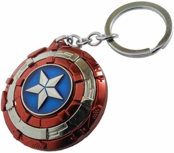 Raj Metal Avengers Superhero Captain America Shield Key Chain Key Chain