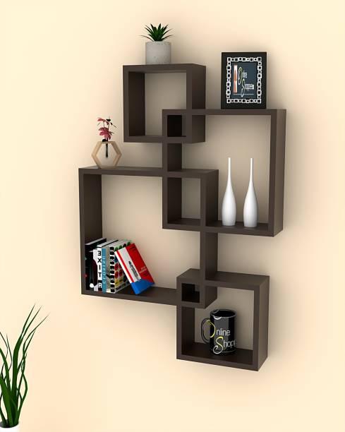 Onlineshoppee Wall Shelf Wooden Wall Shelf