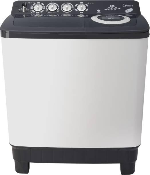 Midea 8.5 kg Semi Automatic Top Load White, Grey