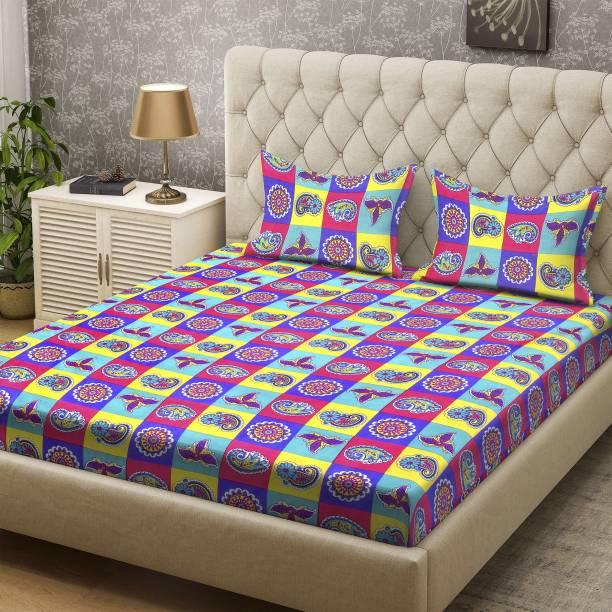 Bombay Dyeing 136 TC Polyester Double Paisley Bedsheet