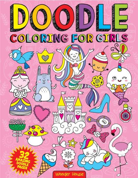 Doodle Coloring for Girls - By Miss & Chief First Edition