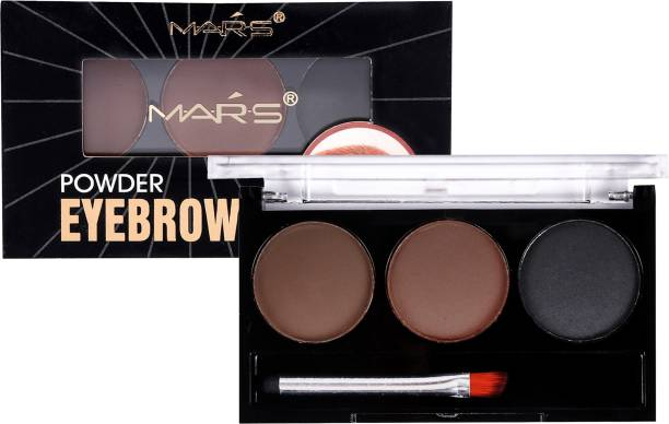 MARS Instant Eyebrow Powder Cake Palette With Brush 4 g