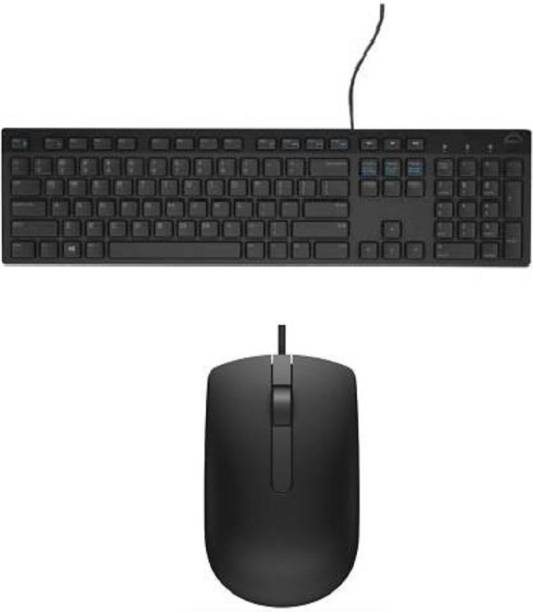 DELL keyboard and mouse with usb wire Wired USB Desktop Keyboard