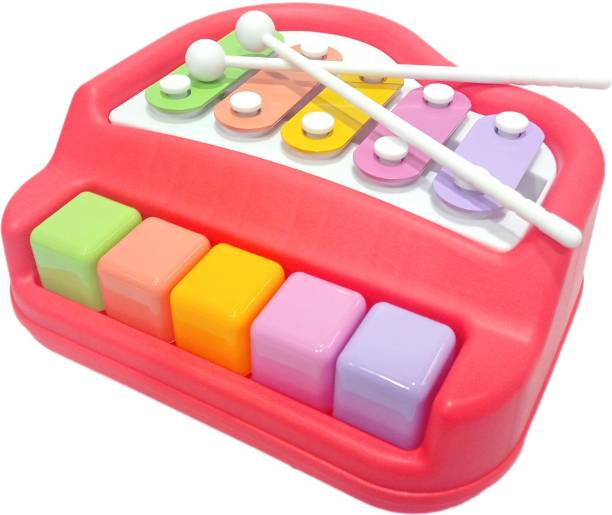 Miss & Chief Xylophone + Piano Musical Toy with 2 Mallets