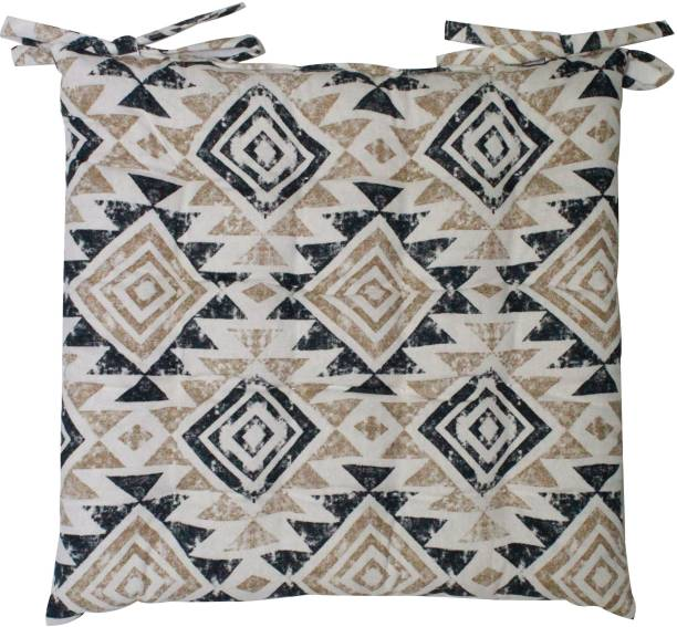 Oasis Cotton Geometric Chair Pad Pack of 1