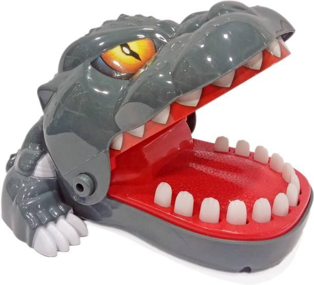 Miss & Chief Dinosaur Dentist - Bite Finger Game for Kids