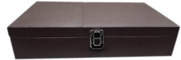 Essart Premium 12 Grid Watch Display Case/Jewellery/Wedding Multi Purpose Jewellery Box, Vanity Box, Cufflinks Organiser Box, Jewellery Box Vanity Box