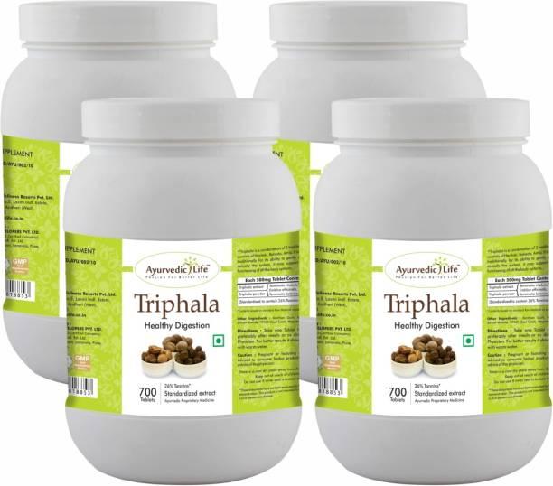 Ayurvedic Life Triphala 700 Tablets Value Pack of 4