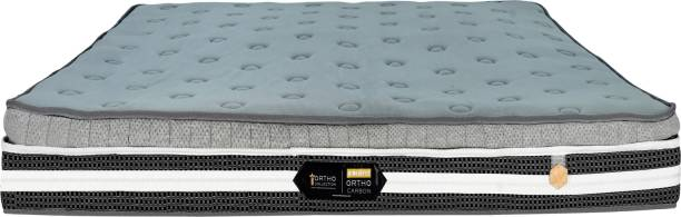 COIRFIT Ortho Carbon Charcoal Memory Foam with Silver X fabric 6 inch Double Bonded Foam Mattress