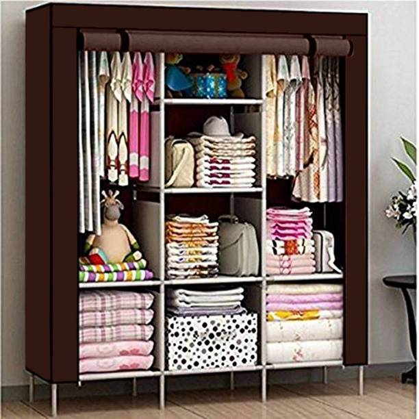 CONTINENTAL 6+2 Shelves 3 door 88132 PP Collapsible Wardrobe