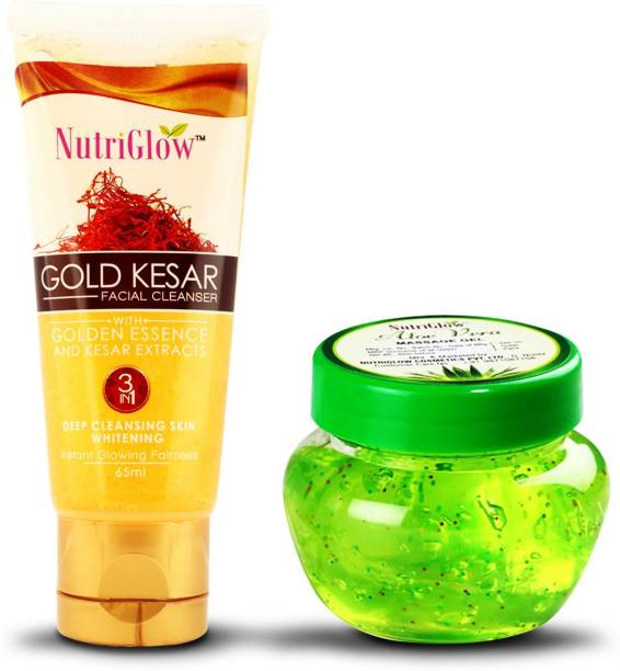 NutriGlow Gold kesar face wash with kesar extracts and alovera gel / moisturing / nourshing your skin