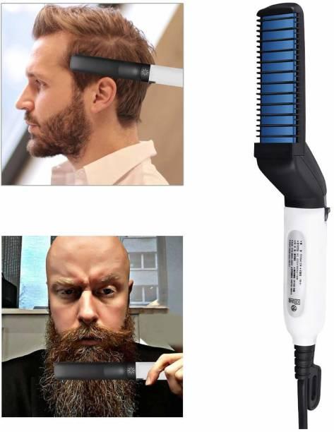 RHONNIUM ® Men Beard Straightener Hair Comb Multi functional Hair Curler Clipper Show Cap Tool ® Men Beard Straightener Hair Comb Multi functional Hair Curler Clipper Show Cap Tool Hair Straightener