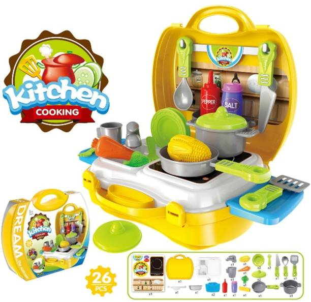 Miss & Chief Little Chef's Kitchen Set with Accessories for Kids