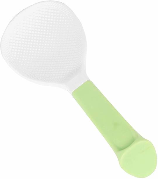 CLASSY TOUCH Non-Stick Standing Rice Spoon/Paddle (Green)…… Plastic Serving Spoon