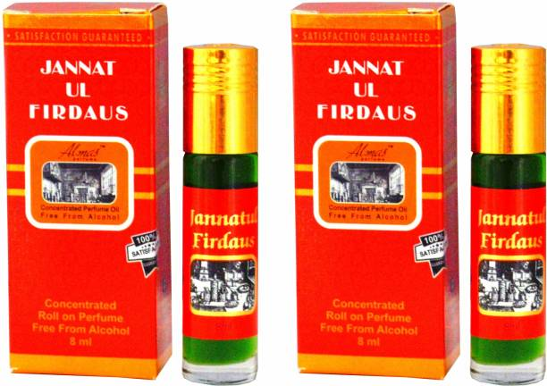Almas JANNATUL FIRDAUS UAE fascinating fragrance ( PACK OF 2 ) pocket Floral Attar