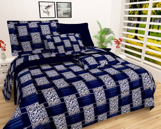 NEW STYLE VG 180 TC Microfiber Double Self Design Bedsheet