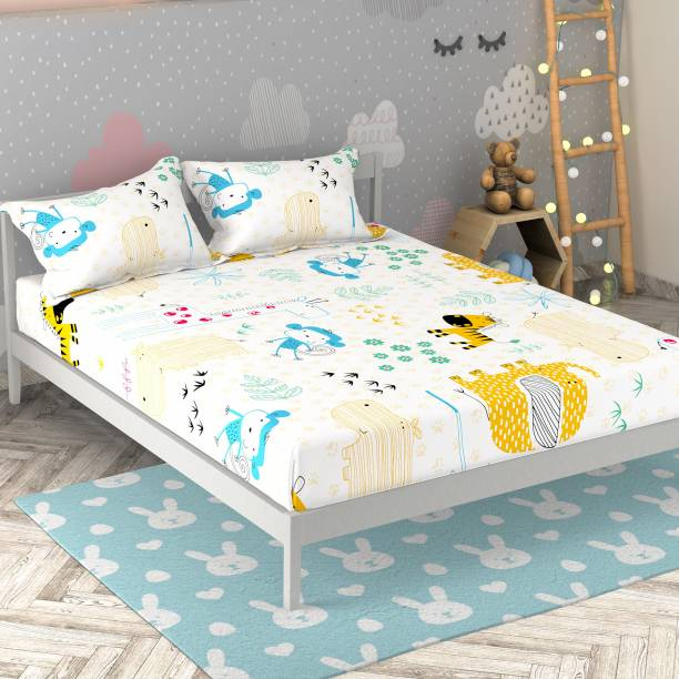 Miss & Chief 136 TC Cotton Double Animal Bedsheet