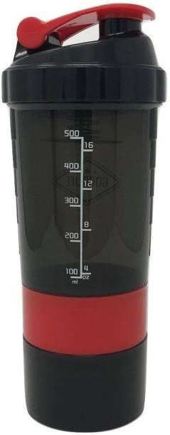 Quinergys ® Bottle Brand Classic Shaker Cup Includes Blender Ball Whisk - Red 600 ml Shaker