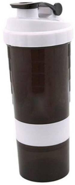 Quinergys ® Protein Shaker/Gym Bottle/Water Bottle/Sipper Bottle - White 600 ml Shaker