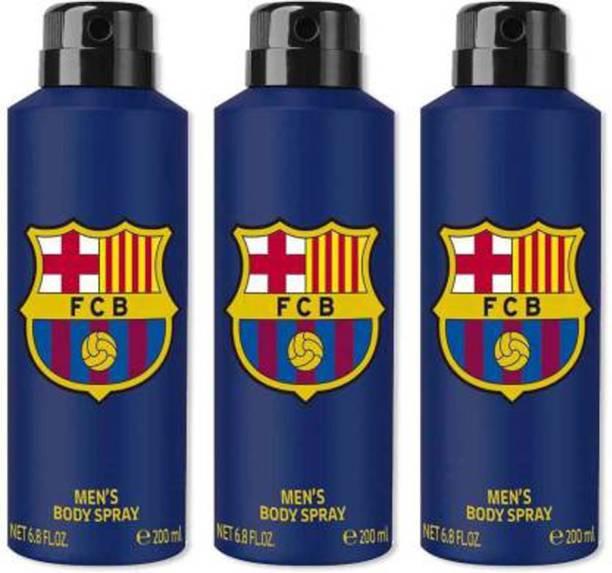 FC Barcelona Blue Combo Pack Of 3 Deodorant Spray - For Men Deodorant Spray  -  For Men