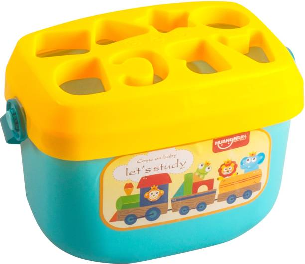 Miss & Chief Shape Sorting Box with 16 Blocks