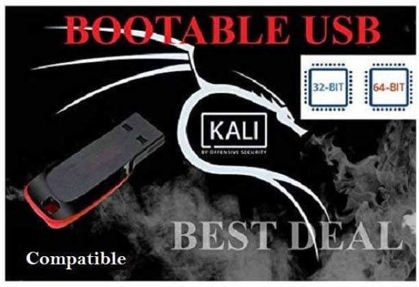 kalilinux Kali Linux 2019.4 64 Bit Live Bootable Installation 16 GB PenDrive Free Open Source Software with Free Updates Unlimited Installations Free security and maintenance updates