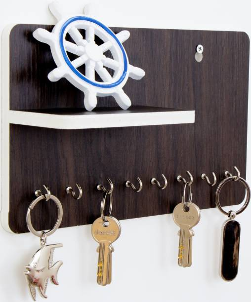 WORA Key Holders And Racks Multipurpose Particle Board Wall Shelf