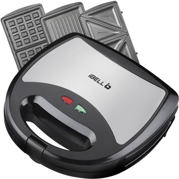 iBELL SM301 750 Watt 3 in 1 Sandwich Maker(Toast/Waffle/Grill) Toast