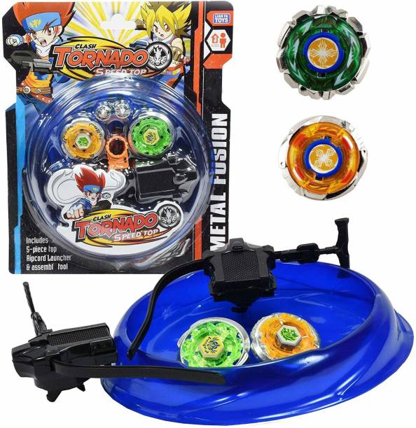 Authfort Beyblades 4-in-1 Metal Fighter Fury with Fight Ring and Handle Launcher for Kids