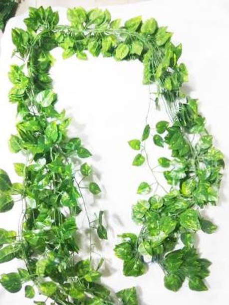 ENDECOR MONEY PLANT WALL HANING Green Wild Flower Artificial Flower