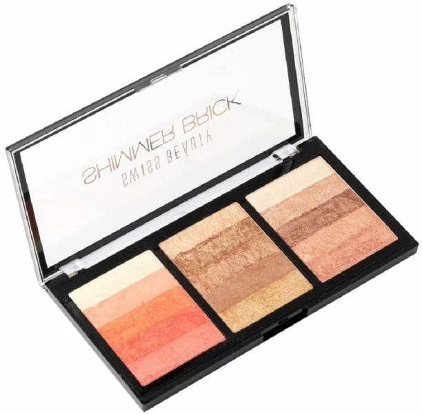 SWISS BEAUTY Blusher(Shimmer Brick Highlighter) Shade-3