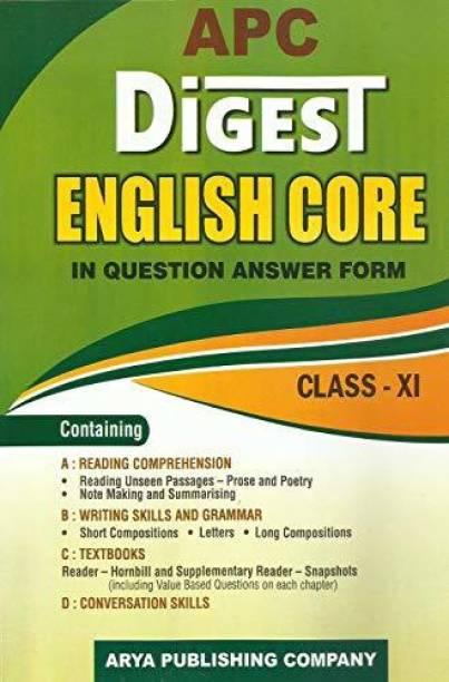 APC Digest English Core Class- XI (2018-19 Session) P