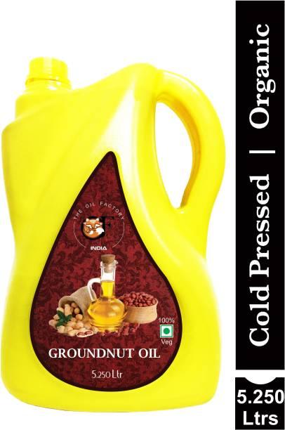 The Oil Factory Cold Pressed Groundnut/Peanut Oil (Virgin, Chekku/Ghani) Groundnut Oil Jar