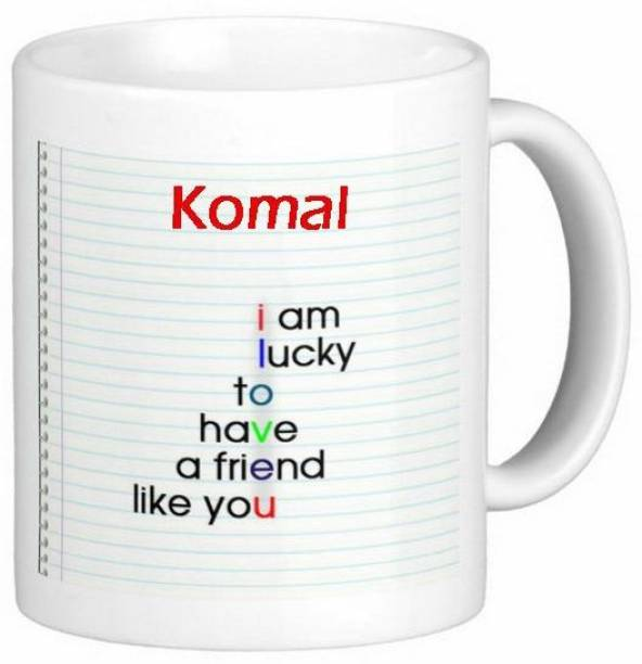Exoctic Silver Komal Love Romantic Friendship Quotes 72 Ceramic Coffee Mug