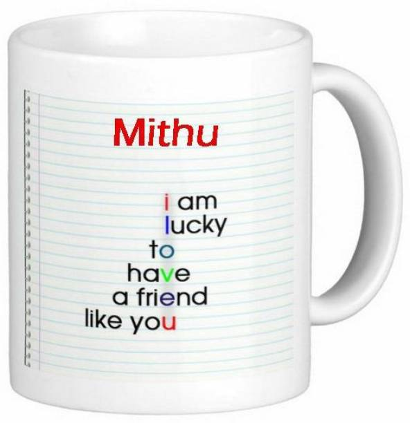 Exoctic Silver Mithu Love Romantic Friendship Quotes 72 Ceramic Coffee Mug