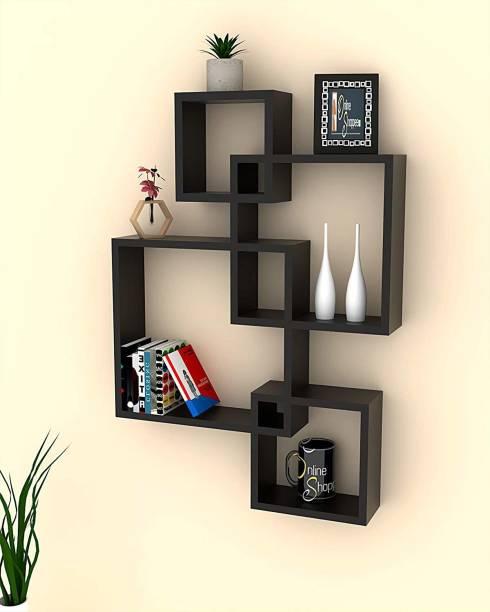 Onlineshoppee Rack Shelf Wooden Wall Shelf