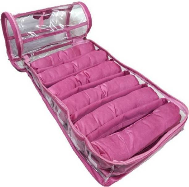 ultimatefashionista Six Rods Bangle Bracelet Watch Bag Jewelery Vanity Box (Pink) vanity box, jewellery box, bangle box Vanity Box