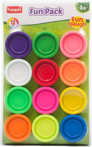 FUNSKOOL FDOUGH-FUN PACK, 12 Tubs of dough
