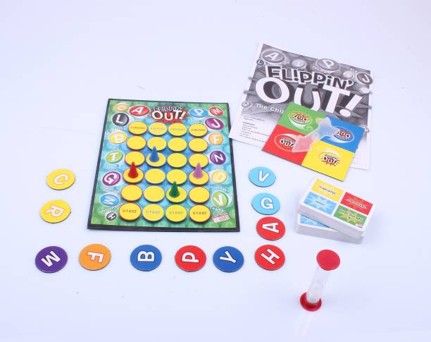 FUNSKOOL FLIPPIN OUT , The Chip Flipping Name game Word Games Board Game