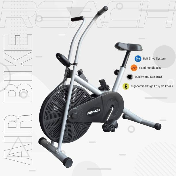 Reach AB-90 Exercise Cycle Fitness Upright Air Bike With Stationary Handles For Home Upright Stationary Exercise Bike