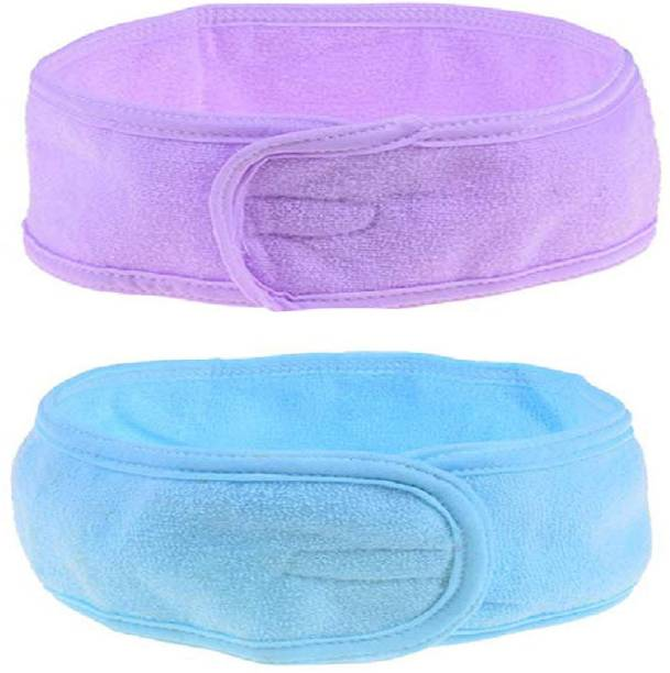 Sweetpea Beauty Parlour Accessories Combo Set of Stretchable Poly Cotton Facial Head Band Hair Band
