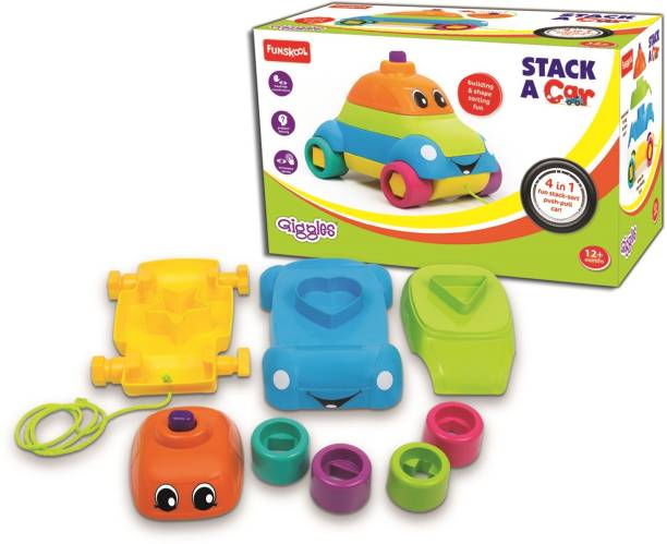 Funskool-Giggles STACKING CAR- Stack it ! Fit it! Pull it!