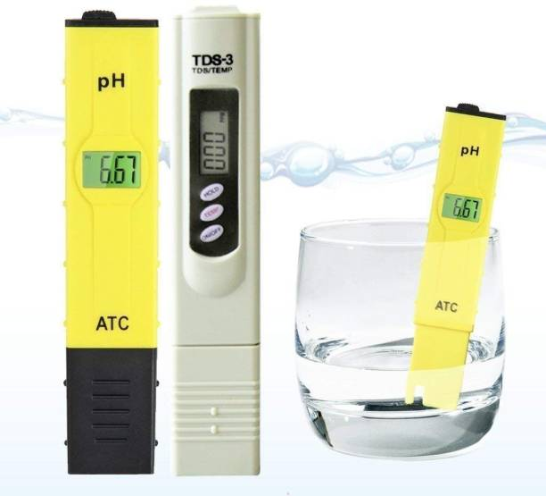 GE FILTRATION TDS meter & PH meter combo/For water testing and quality of ph-PH & TDS&EC Meter Combo, 0.05ph High Accuracy Pen Type pH Meter & +/- 2% Readout Accuracy 3-in-1 TDS EC Temperature Meter Digital TDS Meter