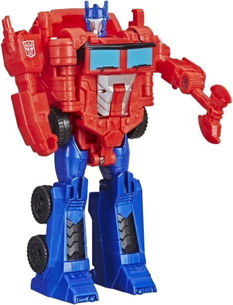 TRANSFORMERS Toys Cyberverse Action Attackers: 1-Step Changer Optimus Prime Action Figure -Repeatable Shock Blast Action Attack - For Kids Ages 6 and Up, 4.25-inch