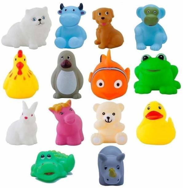 kids choice Chu Chu Bath Toys for Baby Non-Toxic Toddler Set Multi Color (1 Set - 14 Pcs) Bath Toy