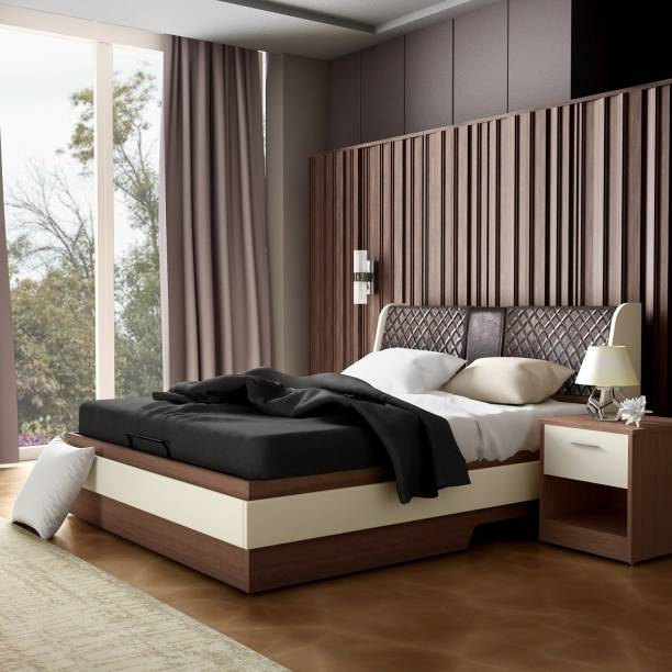 Godrej Interio Aero Engineered Wood Queen Hydraulic Bed